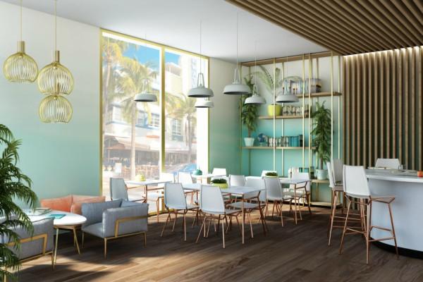 Lounge decorado com a neo mint