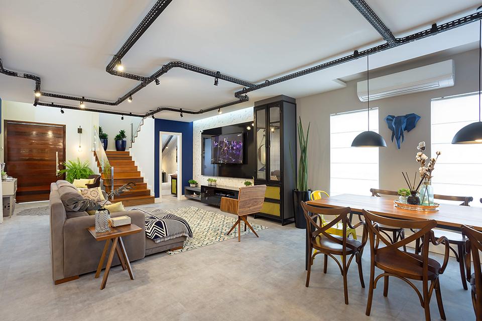 Projeto de interiores da sala de estar